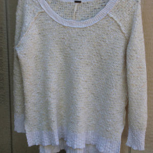 Free People size S sweater in Cream